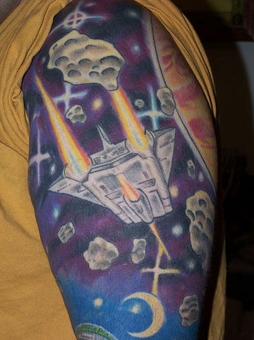 Although I do quite like the Space Invaders one. The tattoo