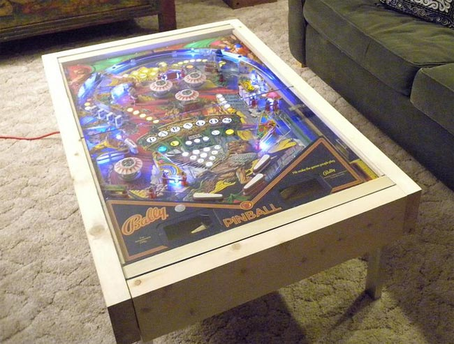 Arcade heroes a coffee table for pinball fans arcade heroes for Design couchtisch diy
