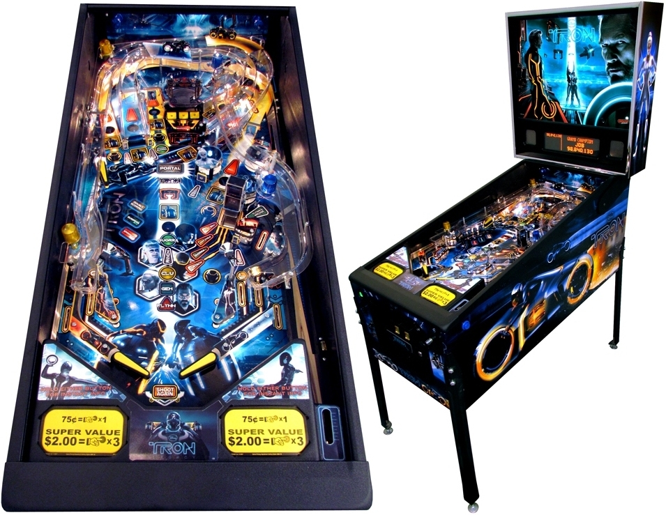tronpinball The Tron pinball details are released from Stern