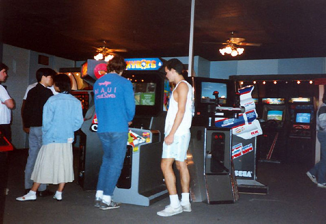 Hanging Out At The Arcade 80s Style