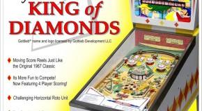 Retro Pinball/Gottlieb's King of Diamonds Pinball shipping at the end of July