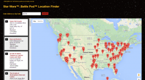 Namco Launches Their Star Wars Battle Pod Game Locator