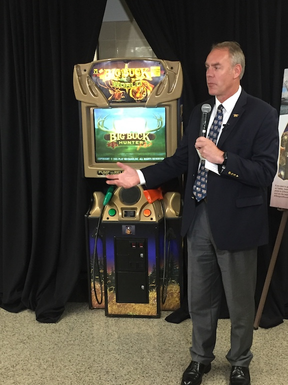 Secretary Zinke with Big Buck World, Department of the Interior