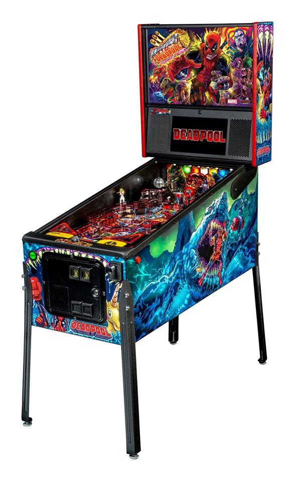 Deadpool Premium Pinball cabinet by Stern Pinball