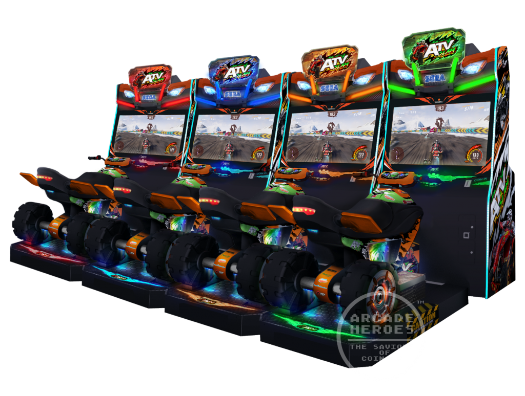 ATV Slam video arcade game by Sega Amusements, 4-player cab